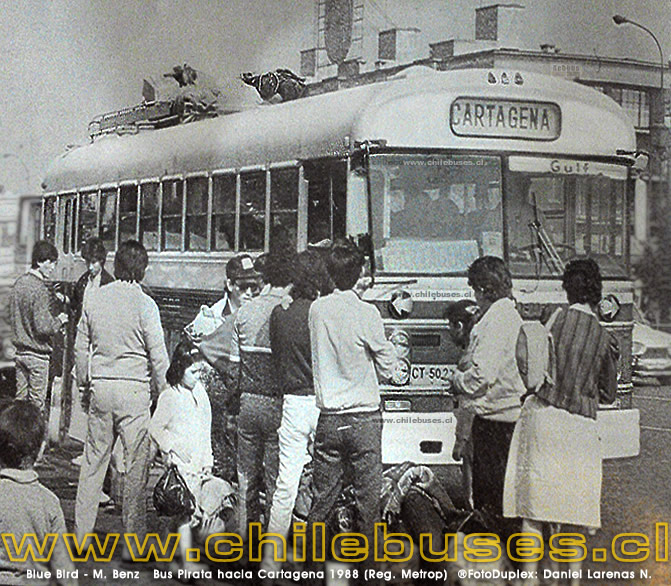 Blue Bird - M. Benz | Bus Pirata hacia Cartagena 1988 (Reg. Metrop)