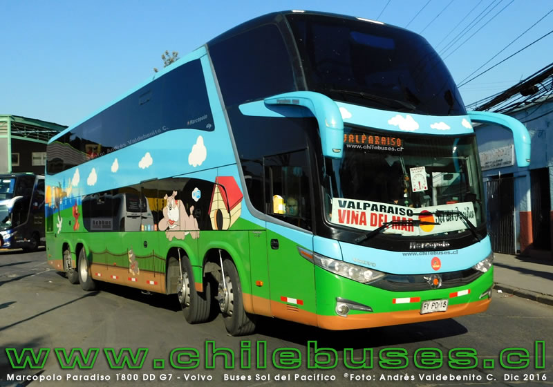 Marcopolo Paradiso 1800 DD G7 - Volvo | Buses Sol del Pacífico