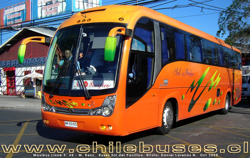 Maxibus Lince 3. 45 - M. Benz | Buses Sol del Pacífico