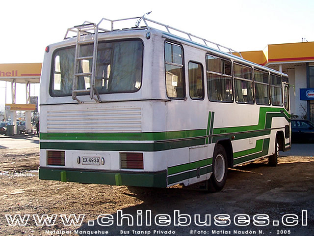 Metalpar Manquehue - M. Benz  /  Bus Transporte Privado (Stgo)