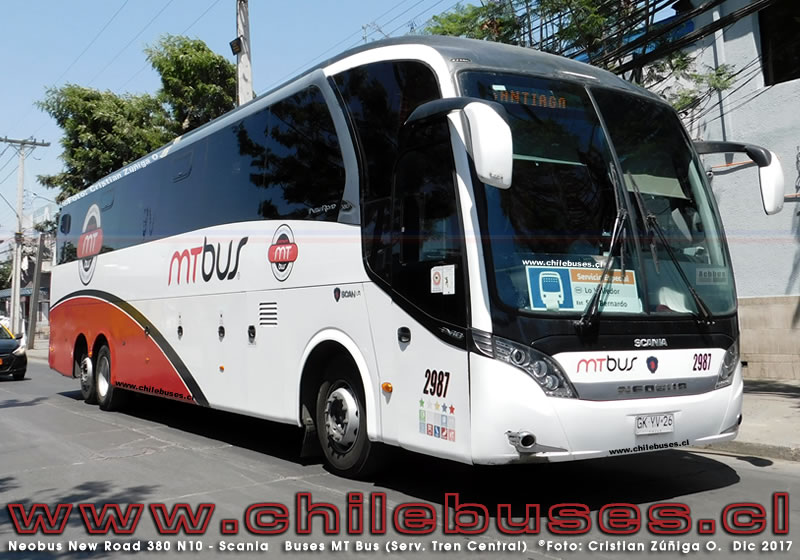 Neobus New Road 380 N10 - Scania | Buses MT Bus - Servicio Especial Tren Central