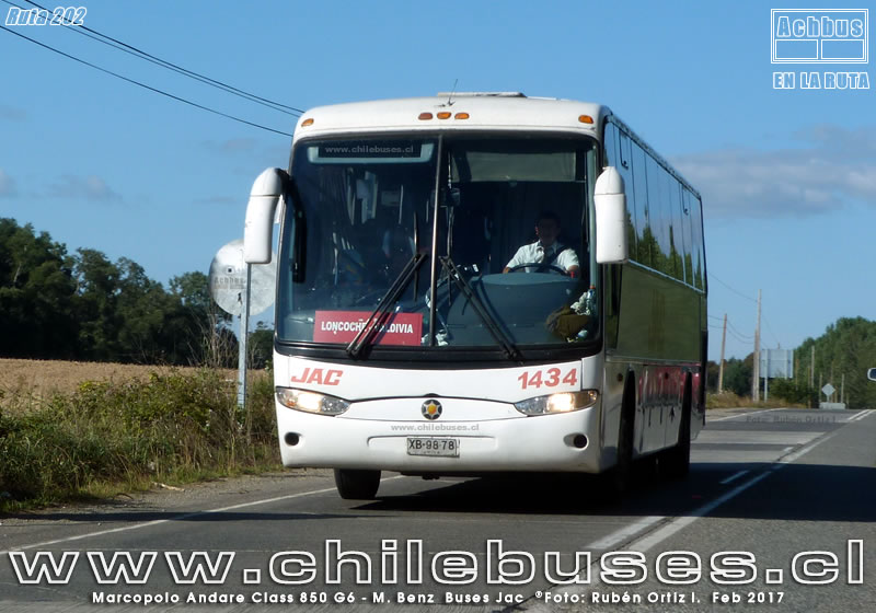 Ruta 202 - Marcopolo Andare Class 850 G6 - M. Benz | Buses Jac