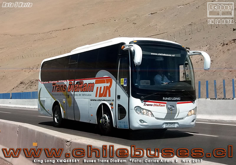 Ruta 5 Norte - King Long XMQ6858Y | Buses Trans DiaRam