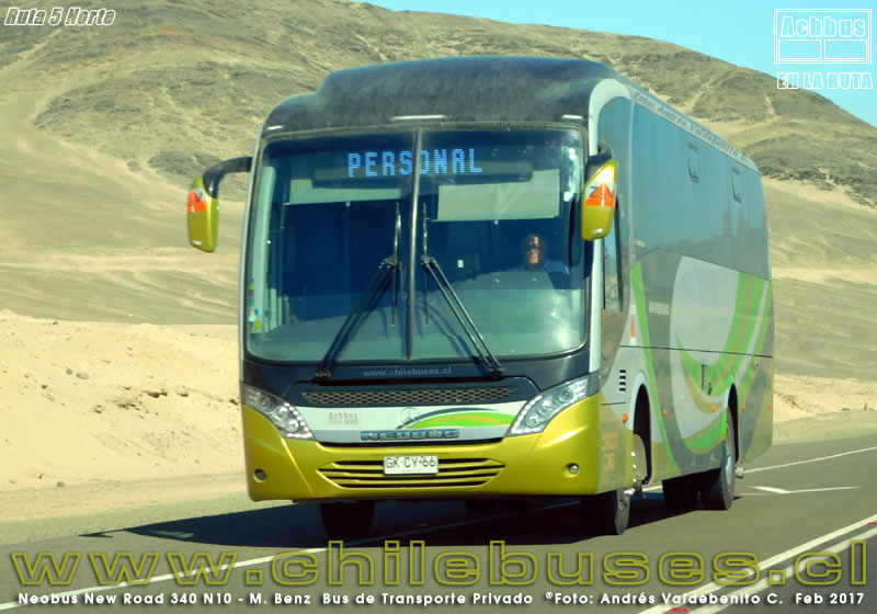 Ruta 5 Norte - Neobus New Road 340 N10 - M. Benz | Bus de Tpte. Privado