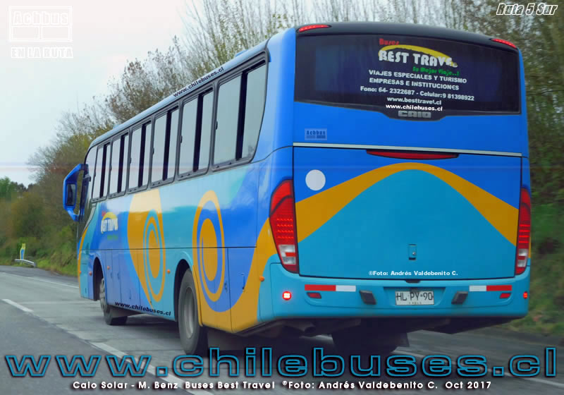 Ruta 5 Sur - Caio Solar - M. Benz | Buses Best Travel