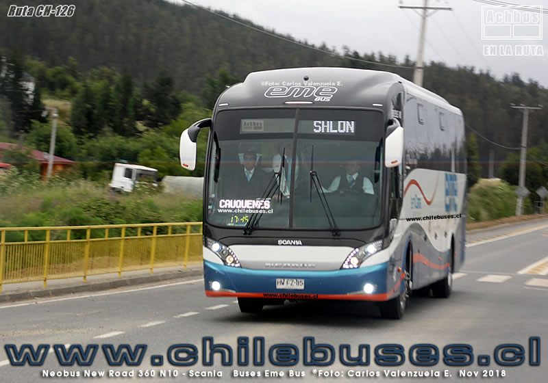 Ruta CH-126 - Neobus New Road 360 - Scania | Buses Eme Bus