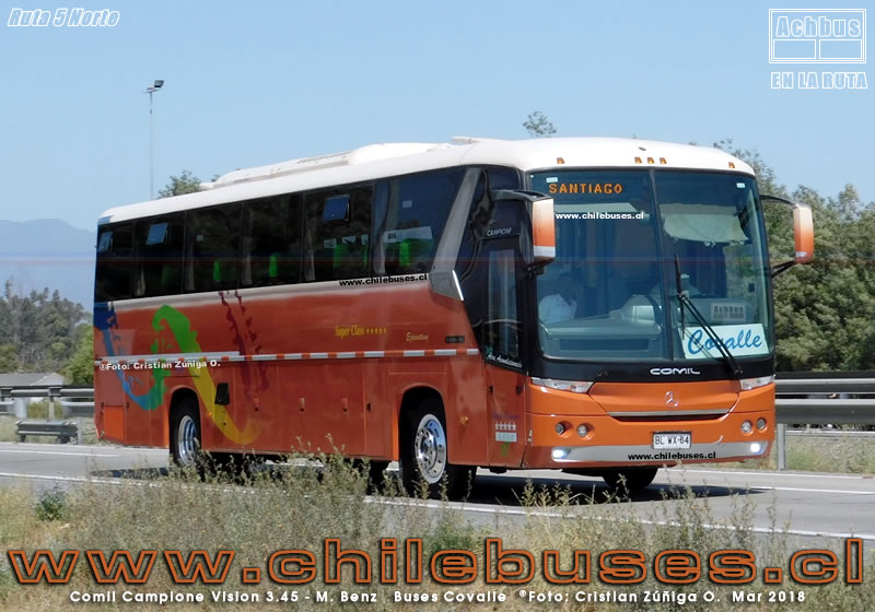 Ruta 5 Norte - Comil Campione Vision 3.45 - M. Benz | Buses Covalle