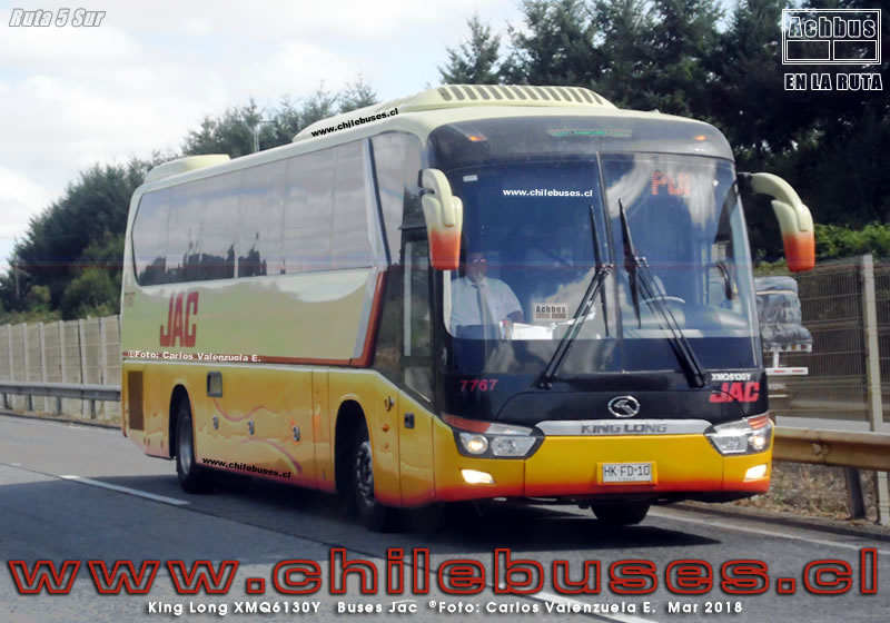 Ruta 5 Sur - King Long XMQ6130Y | Buses Jac