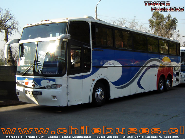 Marcopolo Paradiso GIV - Scania (Frontal Modificado)  /  Buses Suri Bus