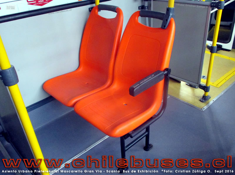 "Asiento Urbano ""Preferencial"" Mascarello Gran Via - Scania 