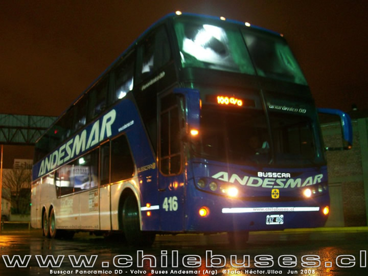 Busscar Panoramico DD - Volvo | Buses Andesmar (Arg)
