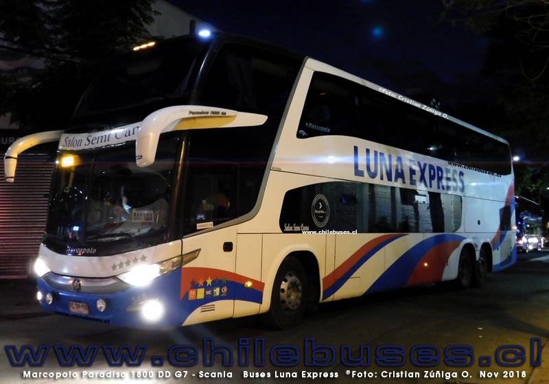 Marcopolo Paradiso 1800 DD G7 - Scania | Buses Luna Express