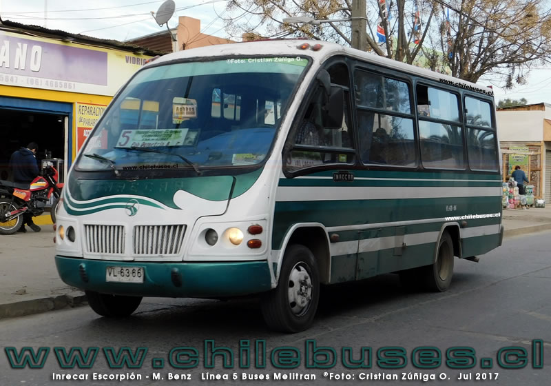 Inrecar Escorpion - M. Benz | Linea 5 Buses Melitran (Melipilla)