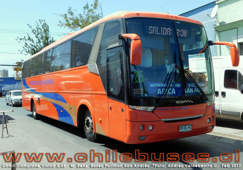 Comil Campione Vision 3.45 - M. Benz | Buses Pullman San Andrés