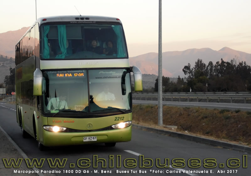 Marcopolo Paradiso 1800 DD G6 - M. Benz | Buses Tur Bus