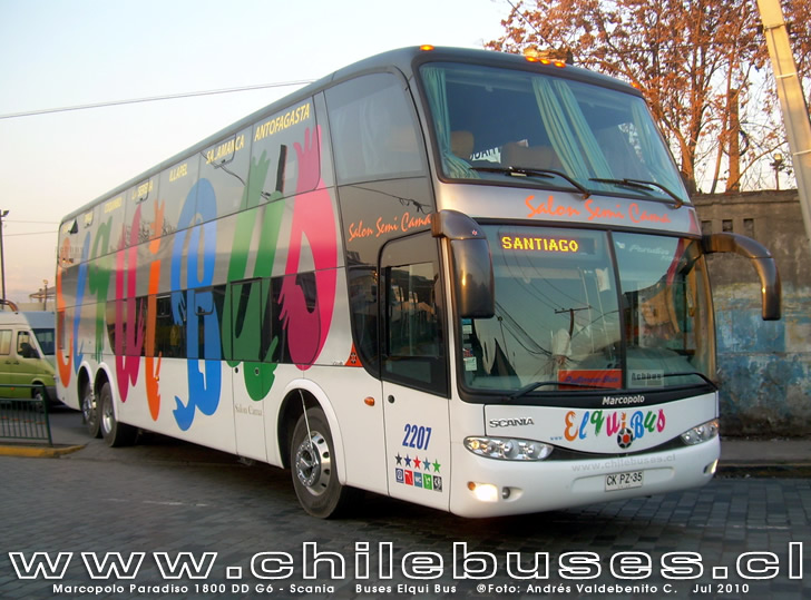 Marcopolo Paradiso 1800 DD G6 - Scania | Buses Elqui Bus
