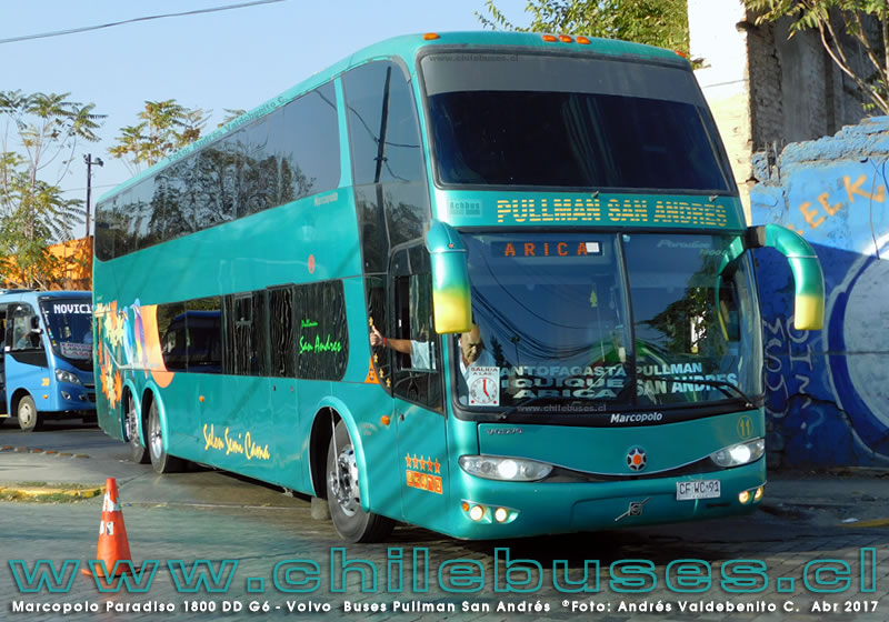 Marcopolo Paradiso 1800 DD G6 - Volvo | Buses Pullman San Andres