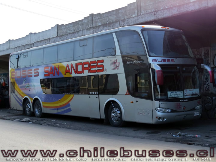 Marcopolo Paradiso 1800 DD G6 - Volvo | Buses San Andrés