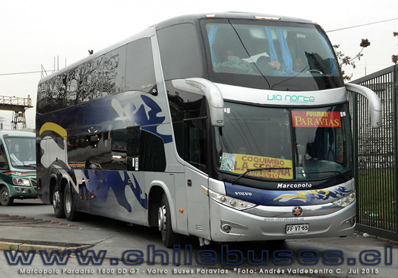 Marcopolo Paradiso 1800 DD G7 - Volvo | Buses Paravias