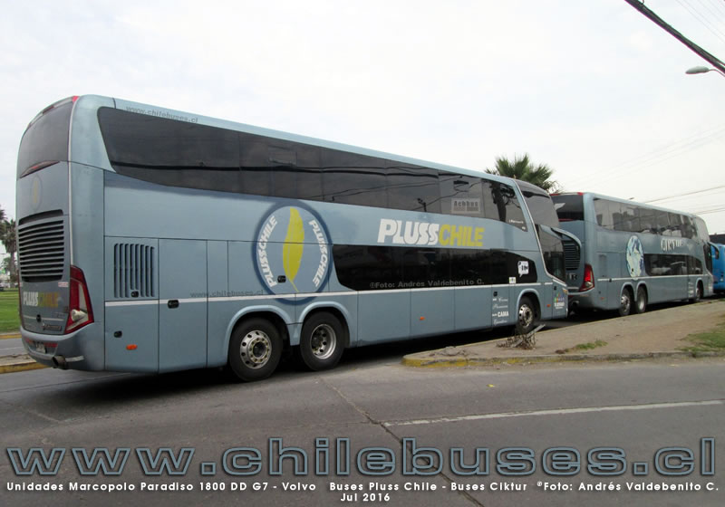 Unidades Marcopolo Paradiso 1800 DD G7 - Volvo | Buses Pluss Chile - Buses Ciktur