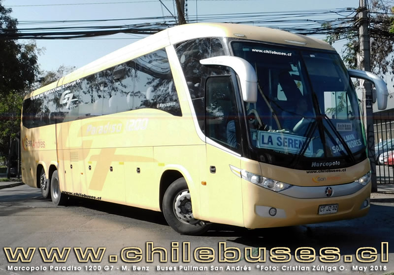 Marcopolo Paradiso 1200 G7 - M. Benz | Buses Pullman San Andres