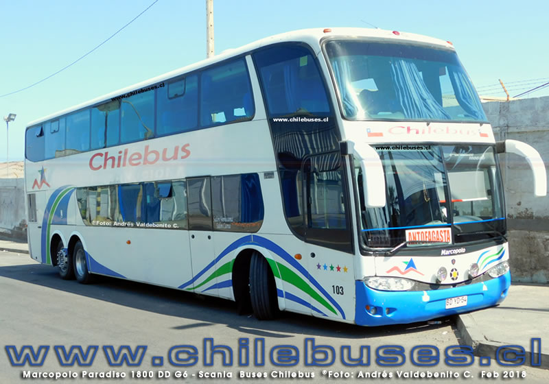 Marcopolo Paradiso 1800 DD G6 - Scania | Buses Chilebus
