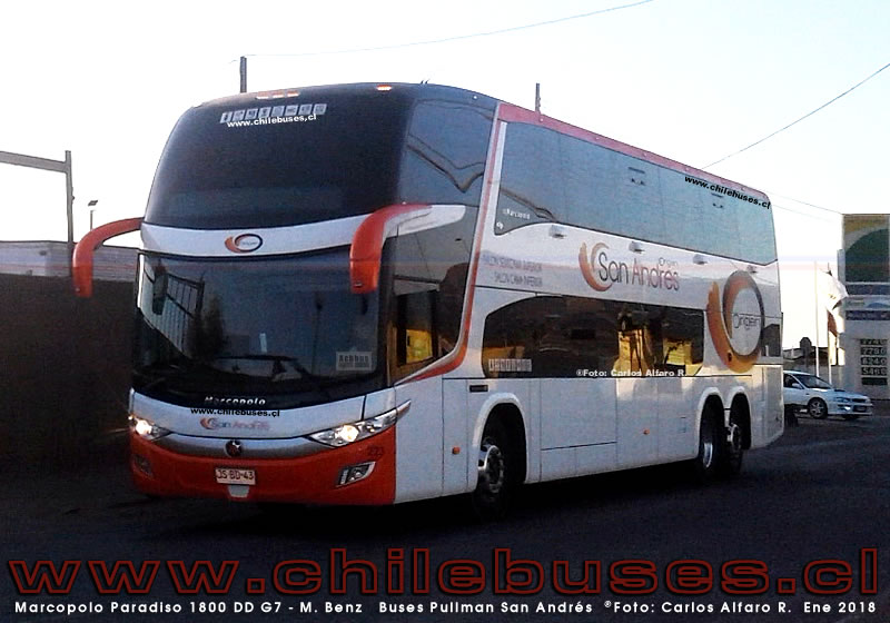 Marcopolo Paradiso 1800 DD G7 - M. Benz | Buses Pullman San Andres