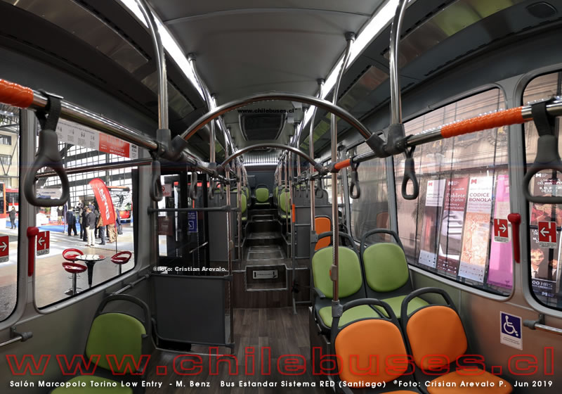 Salón Marcopolo Torino Low Entry  - M. Benz | Bus Estandar Sistema RED (Santiago)