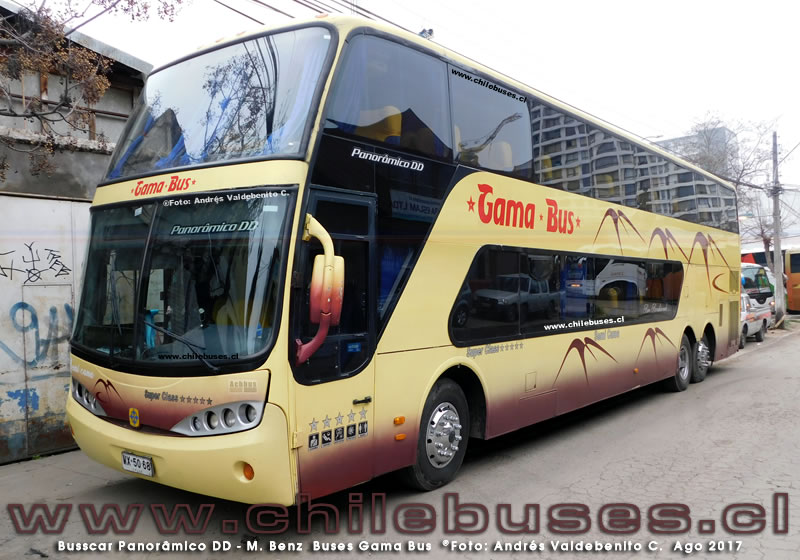Busscar Panoramico DD - M. Benz | Buses Gama Bus