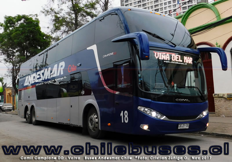 Comil Campione DD - Volvo | Buses Andesmar Chile