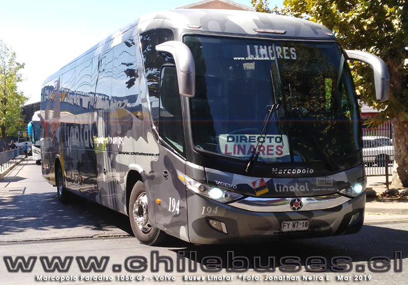 Marcopolo Paradiso 1050 G7 - Volvo  |  Buses Linatal