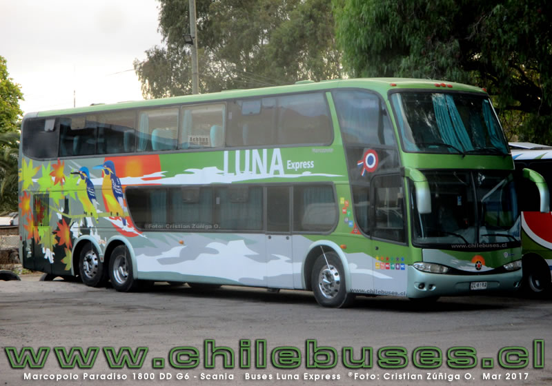 Marcopolo Paradiso 1800 DD G6 - Scania | Buses Luna Express