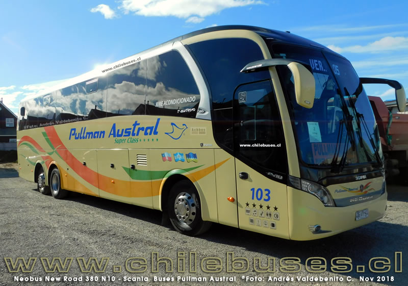 Neobus New Road 380 N10 - Scania | Buses Pullman Austral