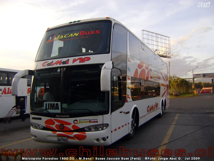 Marcopolo Paradiso 1800 DD - M.Benz | Buses Jaccan Buss (Perú)