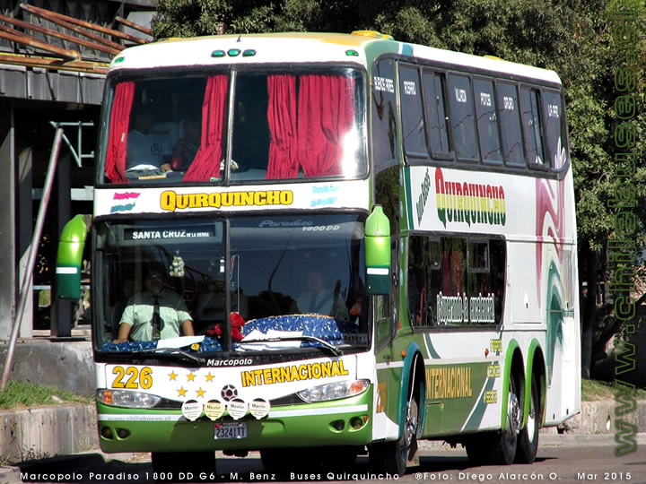 Marcopolo Paradiso 1800 DD G6 - M. Benz | Buses Quirquincho (Bolivia)