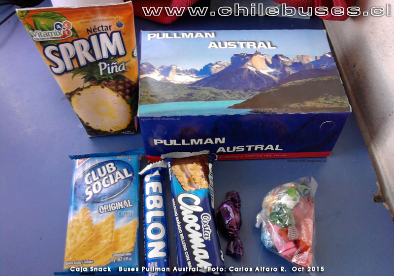 Caja Snack | Buses Pullman Austral