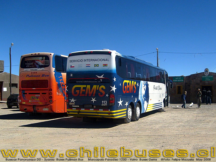 Busscar Panoramico DD - Scania | Buses Pullman Bus     Marcopolo Paradiso 1200 - Volvo | Buses Gems
