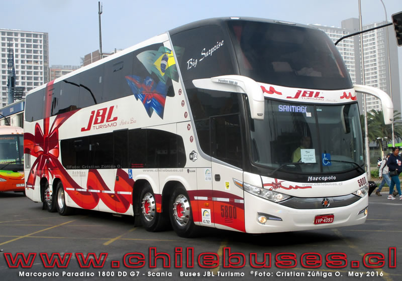Marcopolo Paradiso 1800 DD G7 - Scania | Buses JBL Turismo