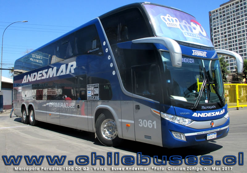 Marcopolo Paradiso 1800 DD G7 - Volvo | Buses Andesmar