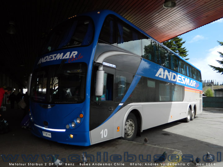 Metalsur Starbus 2 DP - M. Benz | Buses Andesmar Chile