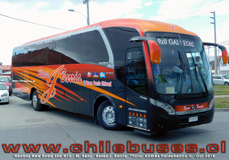 Neobus New Road 360 N10 - M. Benz | Buses J. Barria