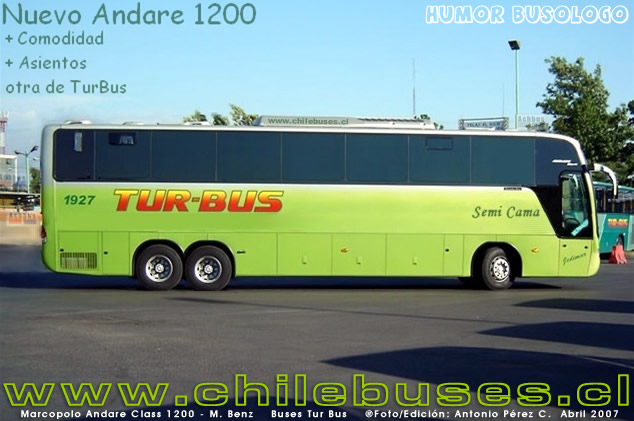 Marcopolo Andare Class 1200 - M. Benz  /  Buses Tur Bus