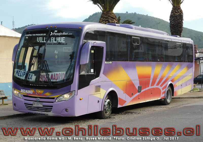 Mascarello Roma MD - M. Benz | Buses Madrid (Region Metropolitana)