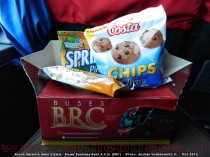 Snack Servicio Semi Cama | Buses Business Rent A Car (BRC)