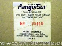 Ticket de Equipaje - Buses PanguiSur