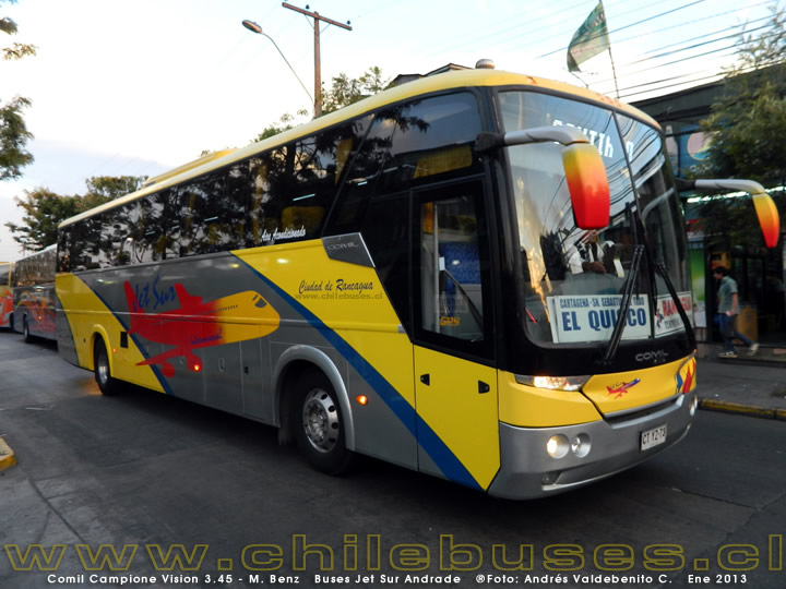 Comil Campione Vision 3.45 - M. Benz | Buses Jet Sur Andrade