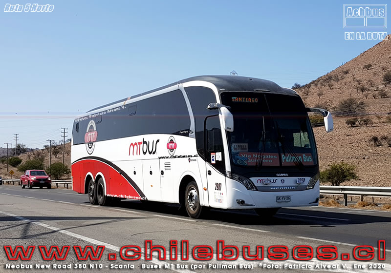 Ruta 5 Norte - Neobus New Road 380 N10 - Scania | Buses MT Bus (por Pullman Bus)
