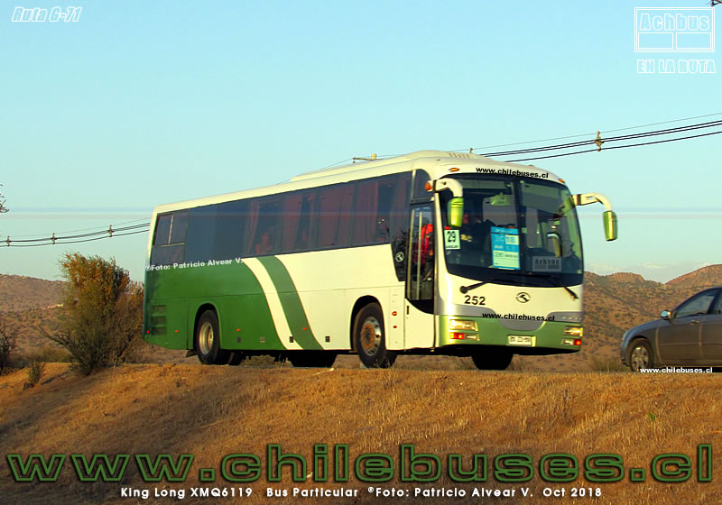 Ruta G-71 - King Long XMQ6119 | Bus Particular