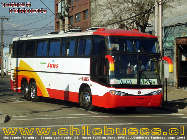 Marcopolo Paradiso - Scania con Frontal G6  /  Buses Pullman Jans
