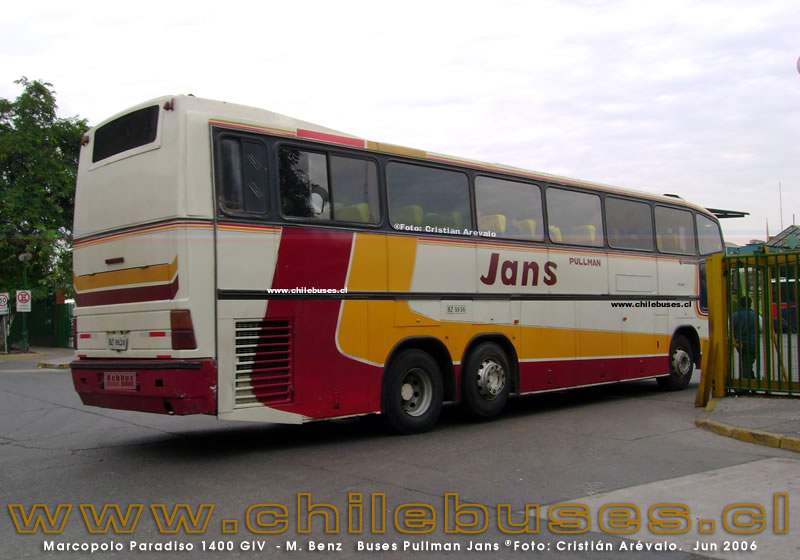 Marcopolo Paradiso 1400 GIV  - M. Benz  |  Buses Pullman Jans